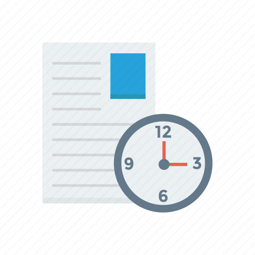 invoice, news, note, page, time, timeline, words icon