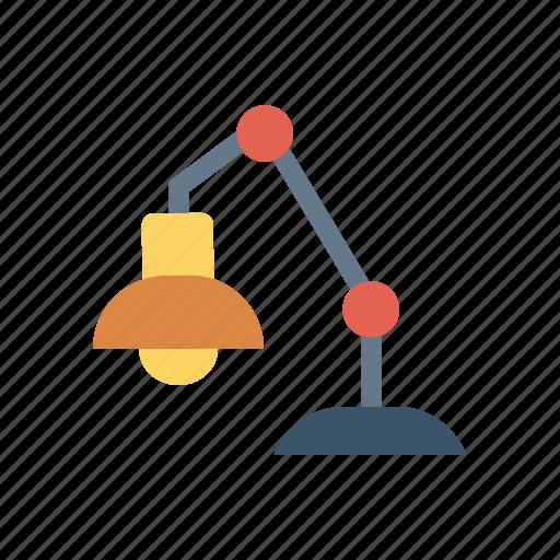 bulb, business, desk, electricity, lamp, light, lighting icon