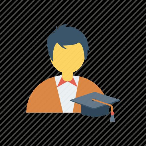 education, learner, male, man, school, student, study icon