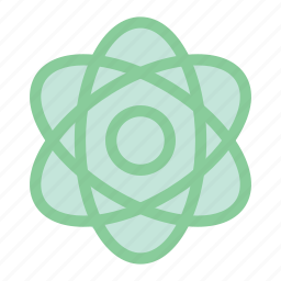 atom, atom icon, chemistry, education, nuclear, physics, science icon