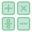 calculation, calculator, education, math, math class, school icon