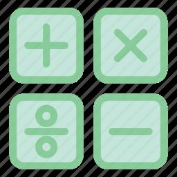 calculation, calculator, education, math, math class, school icon