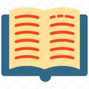 book, bookmark, education, learn, learning icon, open book icon icon