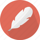 feather, plume icon