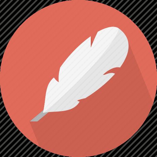 feather, plume icon