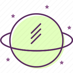 astronomy, natural philosophy, outer space, physics, planet, uranology icon