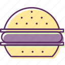 beefburger, burger, hamburger, sandwich icon