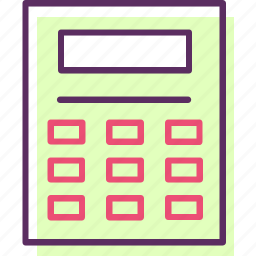 adding machine, calculating machines, calculator, estimator, figurer, mathematical calculations icon