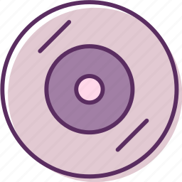 cd, compact disc, compact disk, recording icon