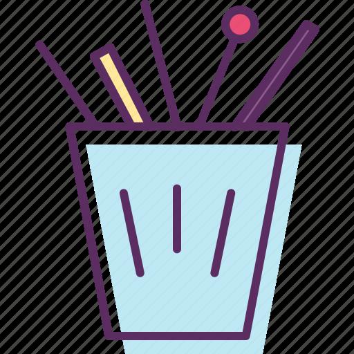 bucket, case, cup, holder, pencil case, pot icon