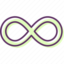 endlessness, eternity, everlastingness, forever, infiniti, limited, perpetuity icon