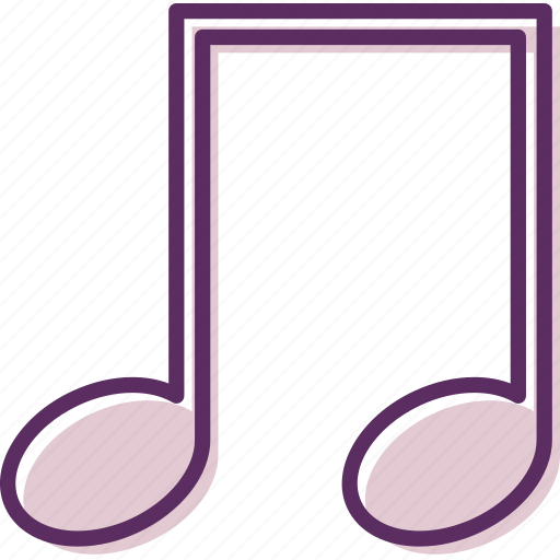 beamed notes, harmony, melody, music, notes, song icon