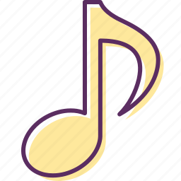 eighth note, harmony, melody, music, notes, quaver, song icon