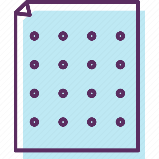 dots, note pad, paper, paper dot, writing pod icon