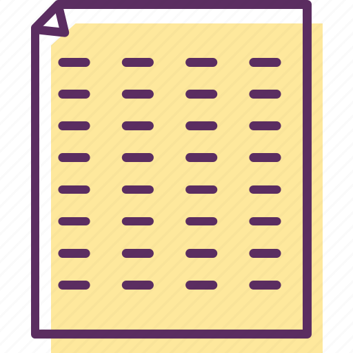 note pad, pad, pad paper, paper, sheets of paper, stripes, writing pad icon