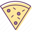 burrito, cantine, pepperoni pizza, pie, pizza, pizza pie, slice pizza icon