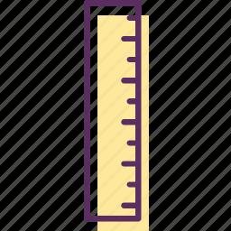 measuring stick, ruler, ruler stick, stick icon