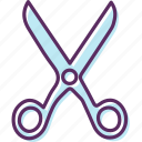 cleave, cut, scissors, sever icon