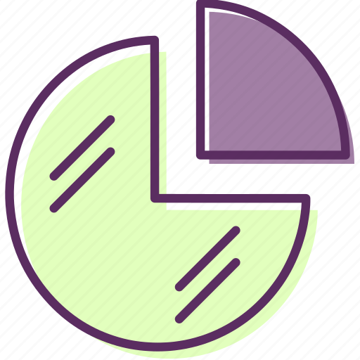 area, divide, fraction, part, quarter, sector, sphere icon