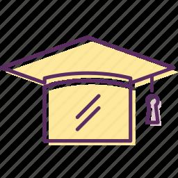 education, graduation, graduation hat, hat, student, university icon