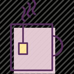 afternoon tea, beverage, brew, cup of tea, drink tea, tea, teatime icon
