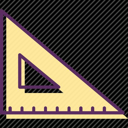 ruler, three-sided, three-sided ruler, triangular, triangular ruler, trilateral icon