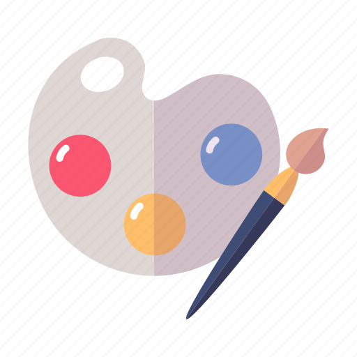 art, paintbrush, palette icon