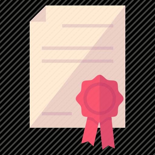 award, diploma, ribbon icon