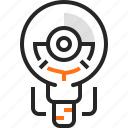 education, electricity, flashlight, idea, lamp, light, power icon