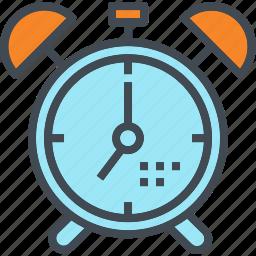 alarm, clock, retro, time, vintage icon