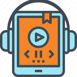 audio, book, listen, mobile, music, tablet icon