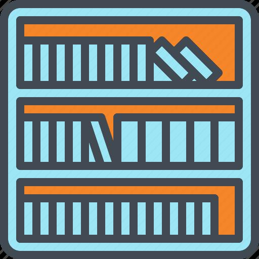 book, case, knowledge, library, shelf icon