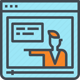 clip, course, e, learning, online, teach, video icon