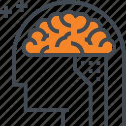 brain, intelligent, iq, mental, mind, smart icon