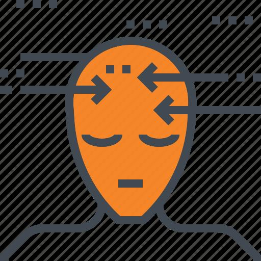 head, human, learning, meditation, thinking icon
