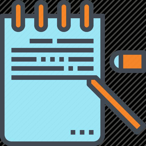 list, memo, note, writing icon