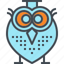 cap, graduation, owl, professor, school, student, teacher icon