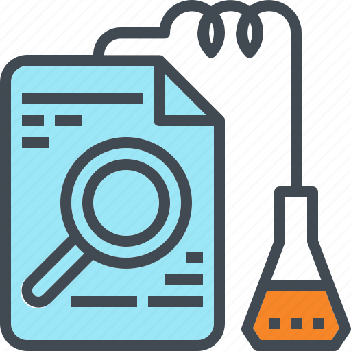 chemistry, data, information, lab, mining, research, search icon