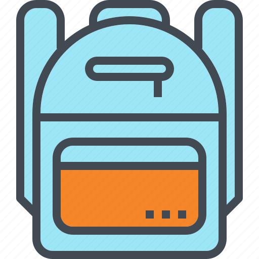backpack, bag, book, carry, kid, laptop, school icon