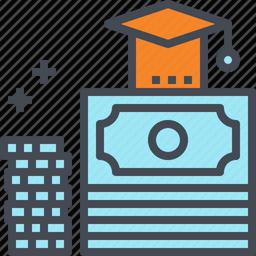 budget, debt, graduation, loan, money, school, student icon