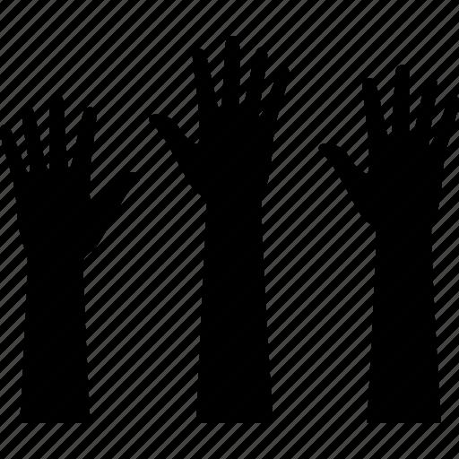 class, hand, hands, participation, plams, raise, raised icon