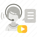 headset, support, video, webinar icon