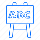 alphabet, board, education, presentation icon