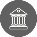 architecture, bank, building, educational, institute, school, university icon