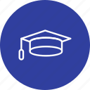 cap, degree, diploma, education, graduation icon