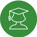 education, female student, girl, lady, student, study icon
