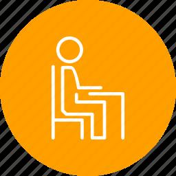 chair, desk, furniture, office, work icon
