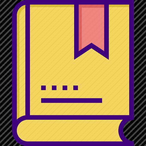 book, bookmark, education, favorite, favorite book, favorite lesson, favourite icon