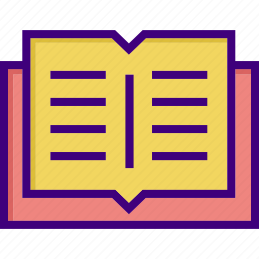 book, education, knowledge, learning, open book, reading, study icon