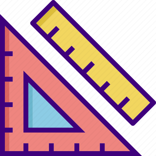 drawing, geometric, geometry, ruler, shape, tool, triangle icon